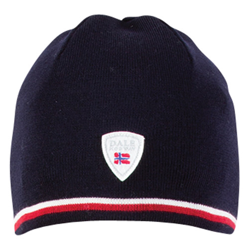 Dale of Norway, Flagg Unisex Hat in Navy/Raspberry/Off White, 42601-C - front view