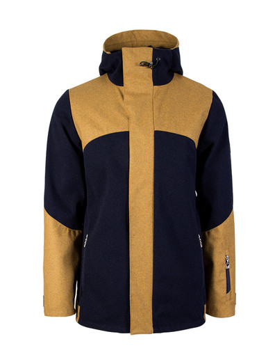 Dale of Norway, Stryn Knitshell Jacket, Mens, in Navy/Mustard, 85131-C