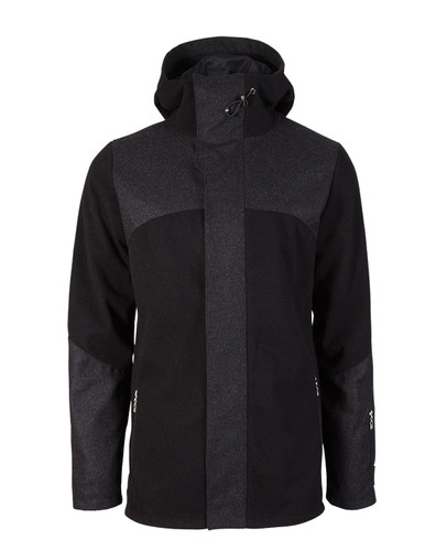 Dale of Norway Stryn Knitshell Jacket, Mens - Black/Dark Charcoal, 85131-F