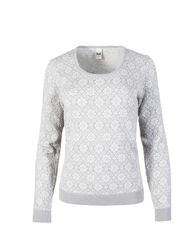 Dale of Norway, Sonja Sweater, Ladies, Light Grey/Off White, 93331-A