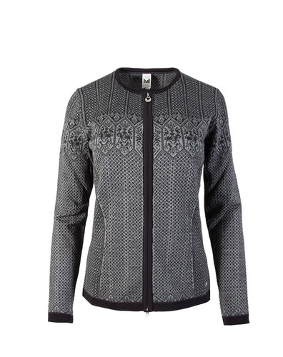 Dale of Norway, Sigrid  cardigan ladies in Black/Dark Charcoal/Smoke, 82071-T, on sale at The Nordic Shop