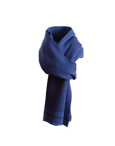 Dale of Norway, Harald Unisex Scarf, in Navy/Medium Blue, 10981-H
