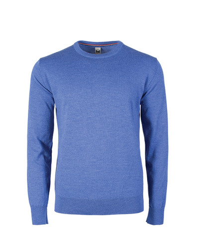 Dale of Norway, Magnus Sweater, Mens, in Medium Blue Melange, 92402-H