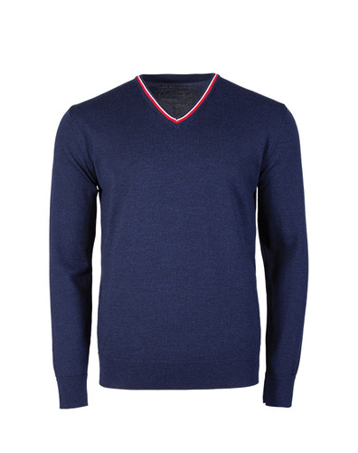 Dale of Norway, Kristian Sweater, Mens, in Navy Melange/Off White/Raspberry, 93131-C