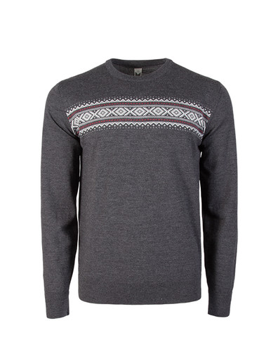 Dale of Norway, Sverre Sweater, Mens, in Dark Grey Melange/Off White/Raspberry, 93031-E