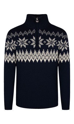 Dale of Norway Myking Sweater, Mens - Navy/Off White/Light Charcoal, 93141-C