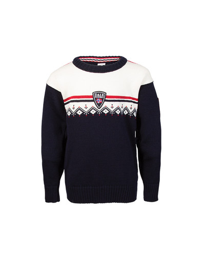 Dale of Norway, Lahti childrens sweater in Navy/Off White/Raspberry, 93311-C