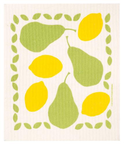 Swedish dish cloth, Pears & Lemons design