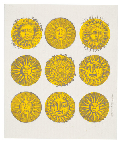 Swedish dish cloth, Suns design