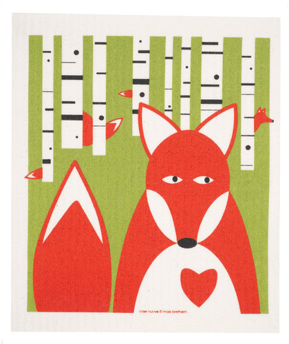 Swedish dish cloth, Fox design