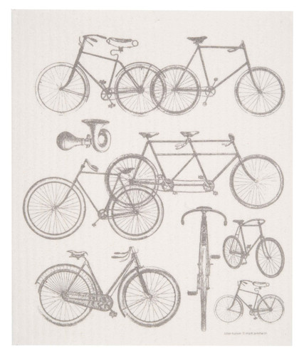 Swedish dish cloth, Bicycles design