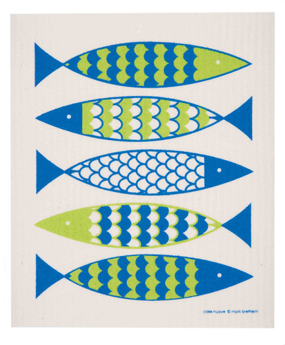 Swedish dish cloth, Fish design
