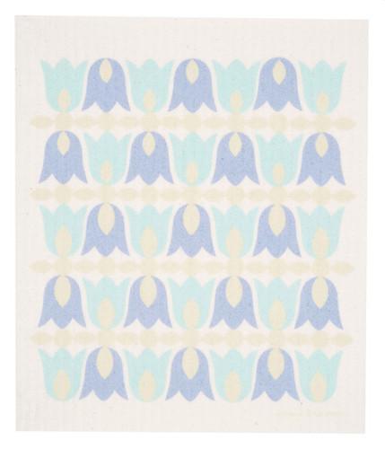Swedish dish cloth, Pastel Tulip Blossoms design
