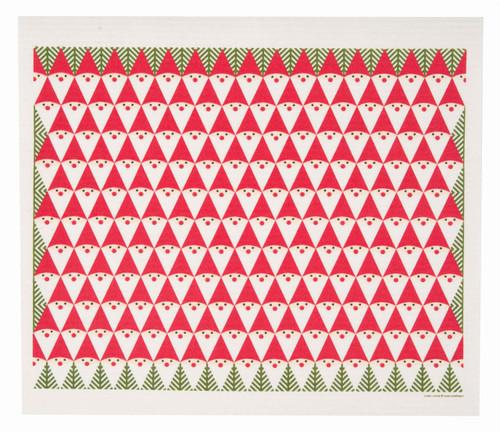 Swedish Christmas drying mat, Tomte Family design