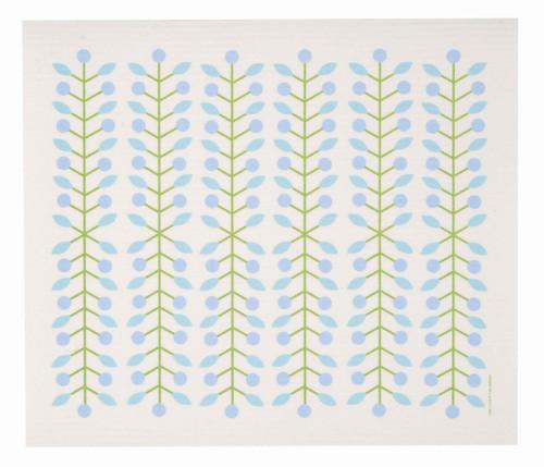 Swedish drying mat, Blue Berry Branch design