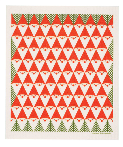 Swedish Christmas dish cloth, Tomte Family design