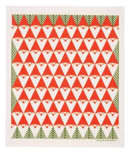 Swedish Christmas dish cloth, Tomte Family design