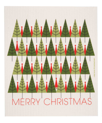 Swedish Christmas dish cloth, Merry Christmas design