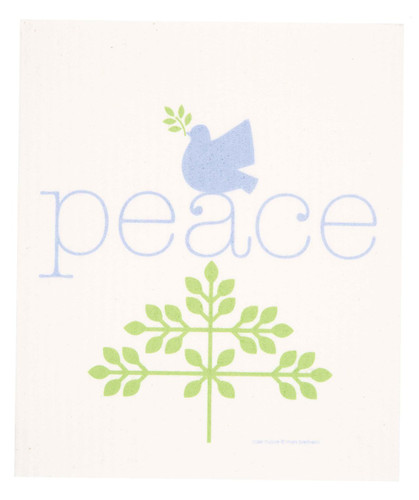 Swedish Christmas Dishcloth, Peace design