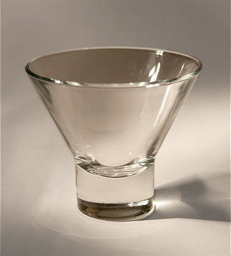 Replacement glass cup for Danish Iron Candle Holders