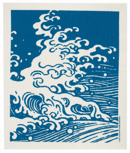 Swedish Dishcloth, Waves design
