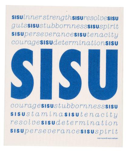 Swedish Dishcloth, Sisu design