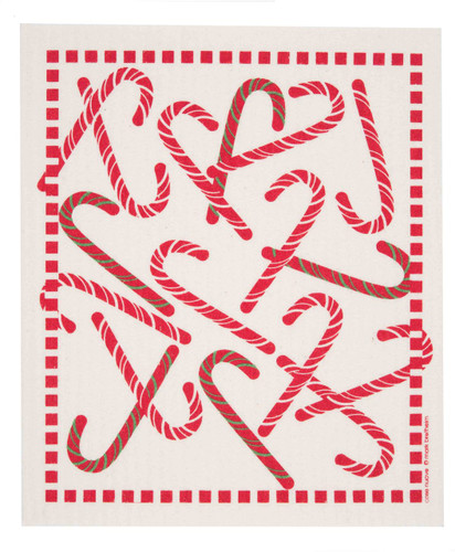 Swedish Dishcloth, Candy Cane design