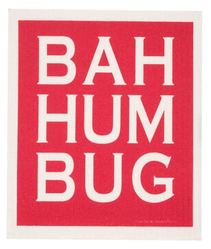 Swedish Dishcloth, Bah Hum Bug design