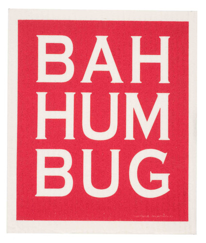 Swedish Dishcloth, Bah Hum Bug design