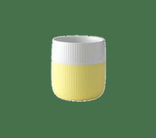 Royal Copenhagen fluted contrast mug in lemonade