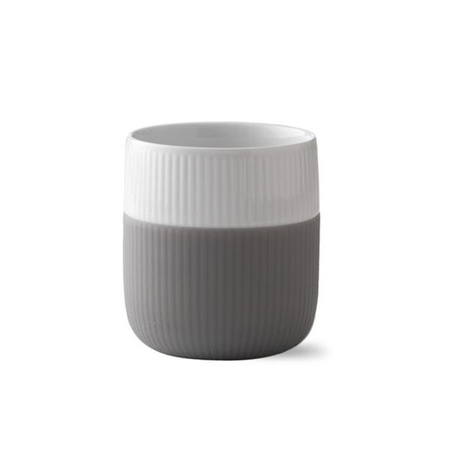 Royal Copenhagen fluted contrast mug in elephant grey