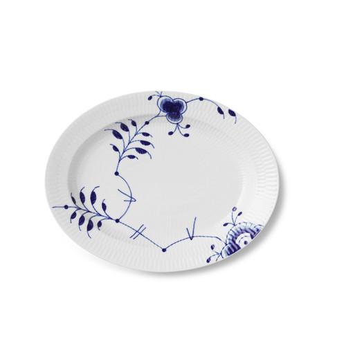 "Royal Copenhagen Blue Fluted Mega - Oval Dish 12.25"""