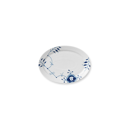 "Royal Copenhagen Blue Fluted Mega, 11"" Oval Plate, alternate view"