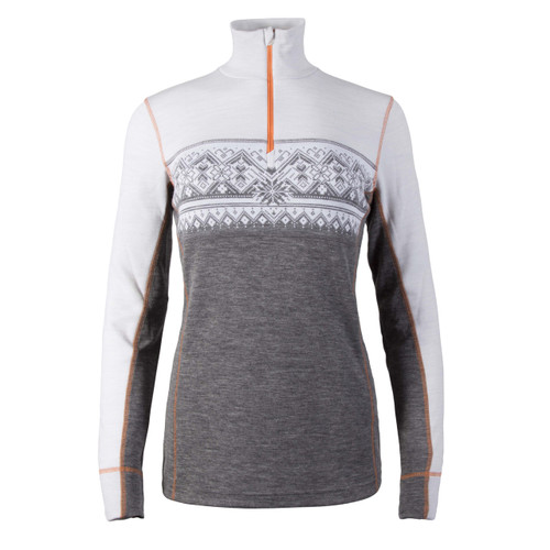 Dale of Norway Rondane Pullover, Ladies, in Smoke/White/Orange Peel, 92681-T