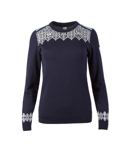 Dale of Norway Lillehammer Sweater, Ladies, in Navy/Sochi Blue/Off White/Grey, 93261-C