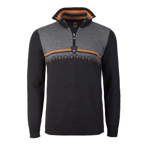 Dale of Norway, Lahti pullover, Mens, Dark Charcoal/Orange Peel/Smoke, 93241-E