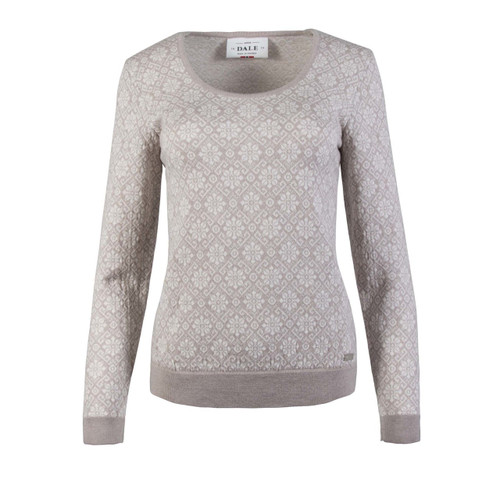Dale of Norway, Sonja Sweater, Ladies, Sand Mel/Off White Mel, 93331-P