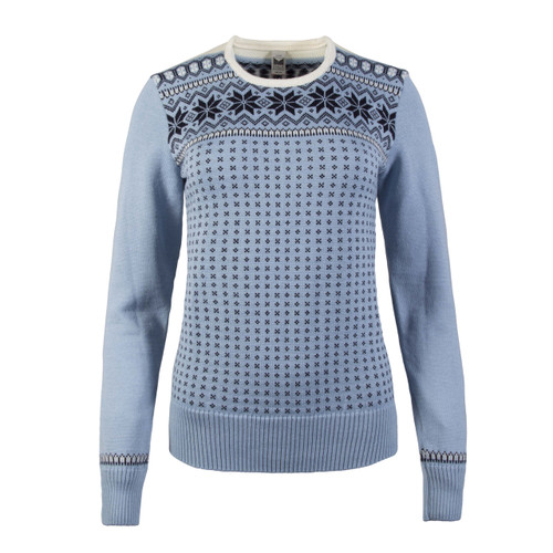 Dale of Norway, Garmisch Sweater, Ladies, in Ice Blue/Navy/Off White, 92601-D