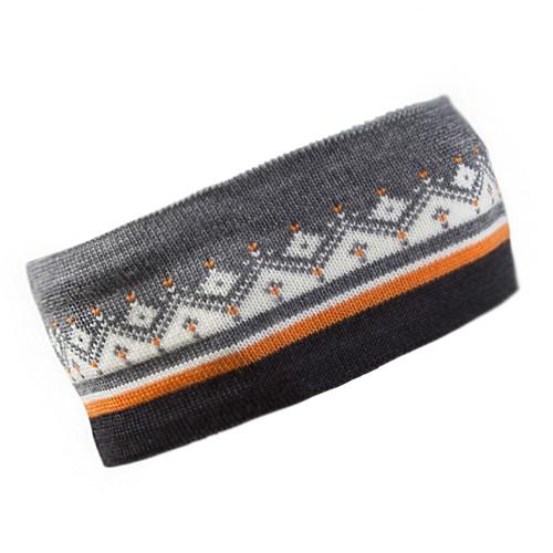 Dale of Norway, Moritz Unisex Headband in Dark Charcoal/Orange Peel/Off White/Smoke, 26091-J