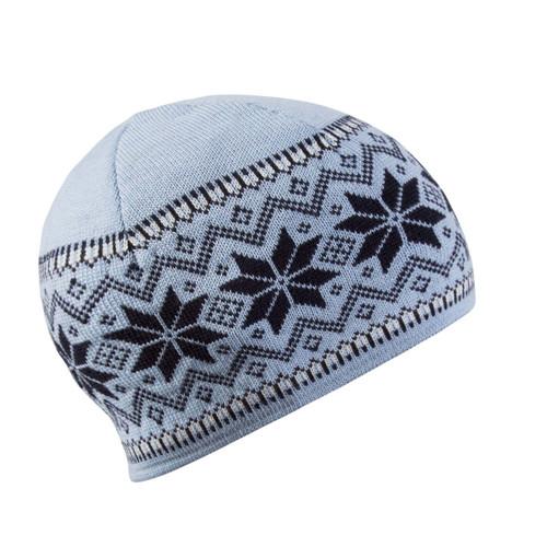 Dale of Norway Garmisch Unisex Hat in Ice Blue/Navy/Off White, 45971-D