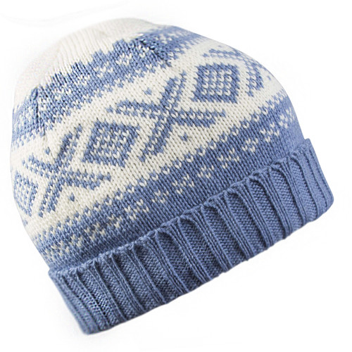 Dale of Norway, Cortina Unisex Hat in Blue Shadow/Off White, 42261-H