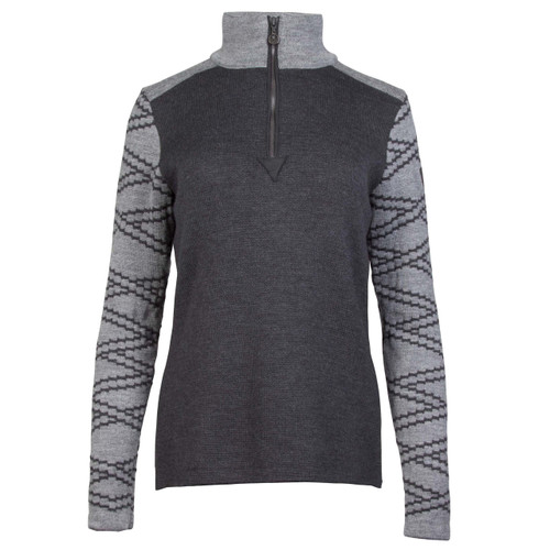 Dale of Norway Balder Pullover, Ladies, in Dark Charcoal/Smoke, 93661-E
