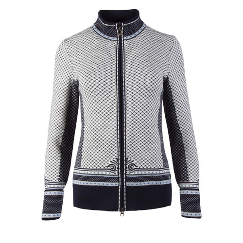 Dale of Norway, Viktoria  cardigan, ladies, in Navy/Ice Blue/Grey Mel/Off White, 83151-C, on sale at The Nordic Shop