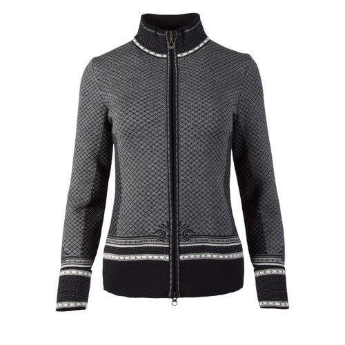 Dale of Norway, Viktoria  cardigan, ladies, in Dark Charcoal/Off White/Light Charcoal/Smoke, 83151-F, on sale at The Nordic Shop