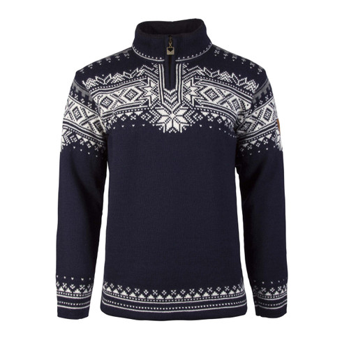 Dale of Norway Anniversary Pullover - Navy/Off White/Smoke, 34931-C