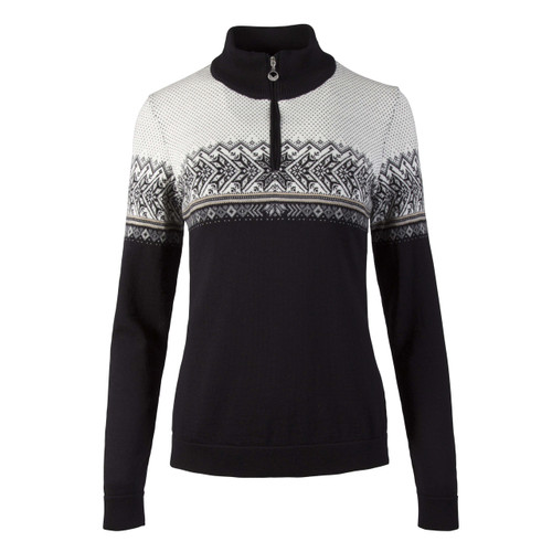 Dale of Norway, Hovden Sweater, Ladies, in Black/Light Charcoal/Smoke/Beige/Off White, 93451-F