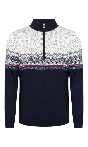 Dale of Norway, Hovden Sweater, Mens, Navy/Blue Shadow/Indigo/Raspberry/Off White, 93441-C