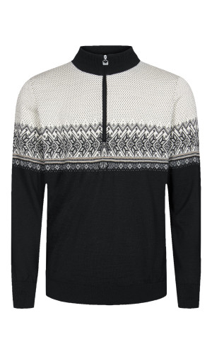 Dale of Norway, Hovden Sweater, Mens, Black/Light Charcoal/Smoke/Beige/Off White, 93441-F