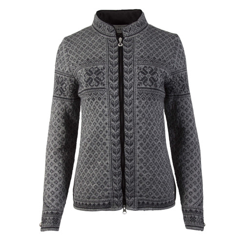 Dale of Norway Sunniva  cardigan, ladies, - Smoke/Dark Charcoal, 83161-E, on sale at The Nordic Shop