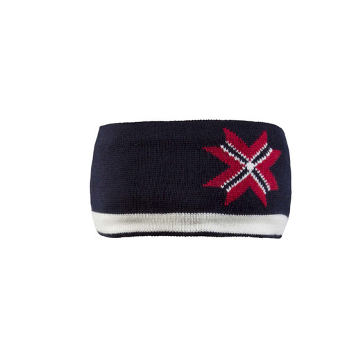 Dale of Norway Unisex Olympic Passion Unisex Headband, Navy/Off White/Raspberry, 25991-C